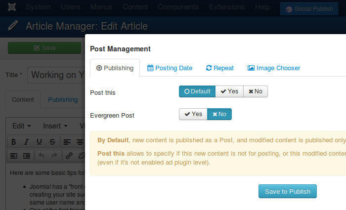 Compose your social publishing