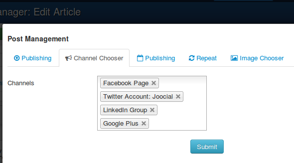 Select channels